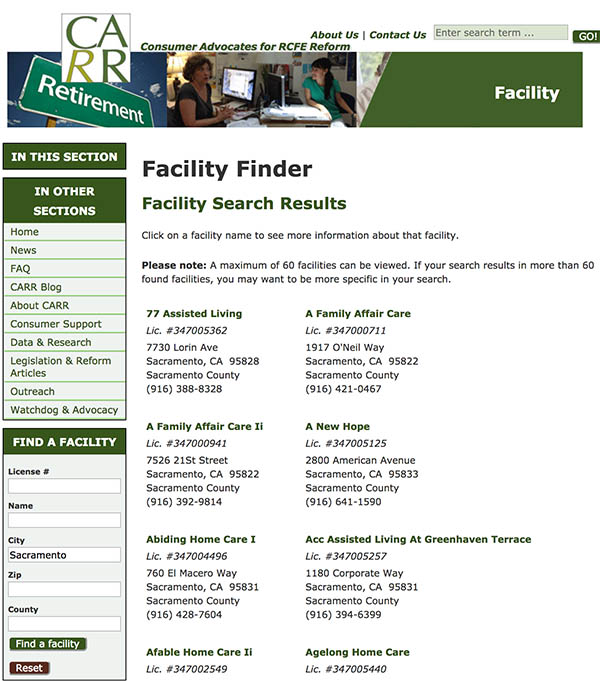 Facility Finder