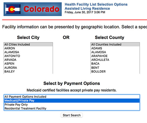 Find Medicaid Facilities Colorado