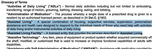 Assisted Living Definition