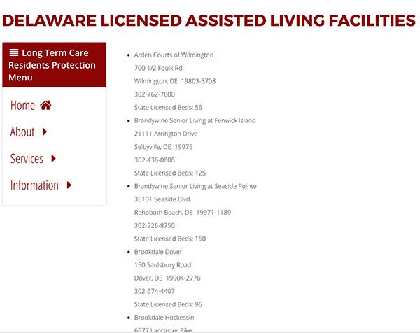 Delaware Assisted Living