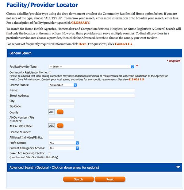Facility Locator