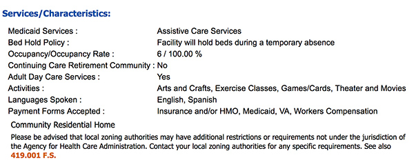 Medicaid Facility Florida