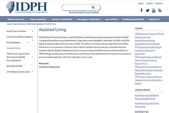 IDPH - Assisted Living