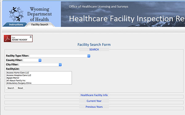 Facility Database Wyoming