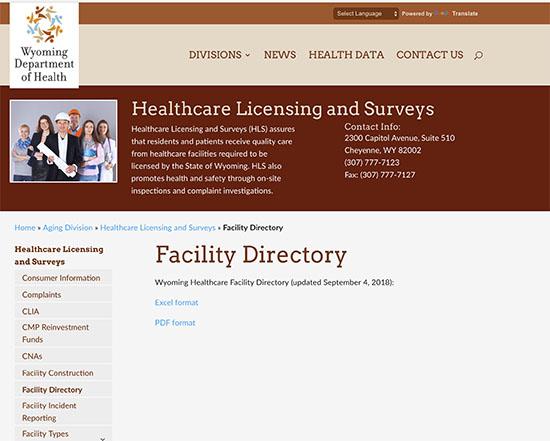 Wyoming Facilities