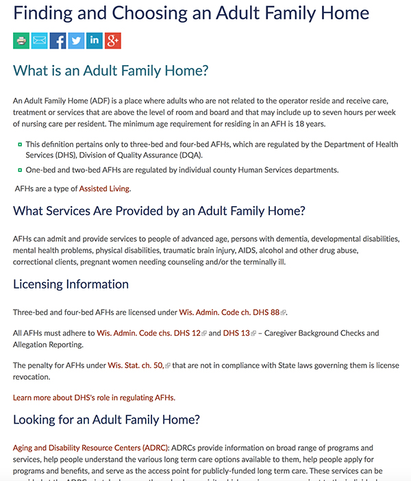 Adult Family Home