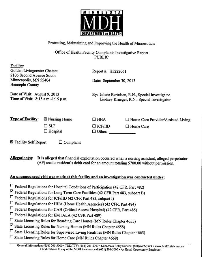 Complaint page 1