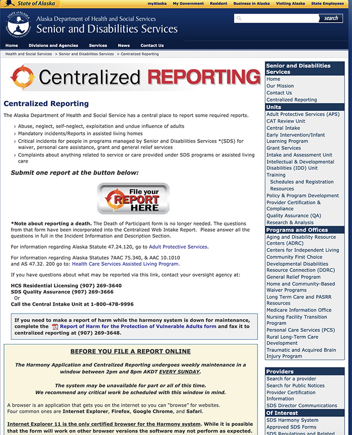 Centralized Reporting