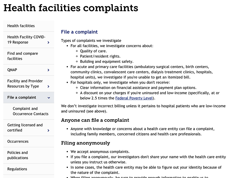 Colorado Complaints